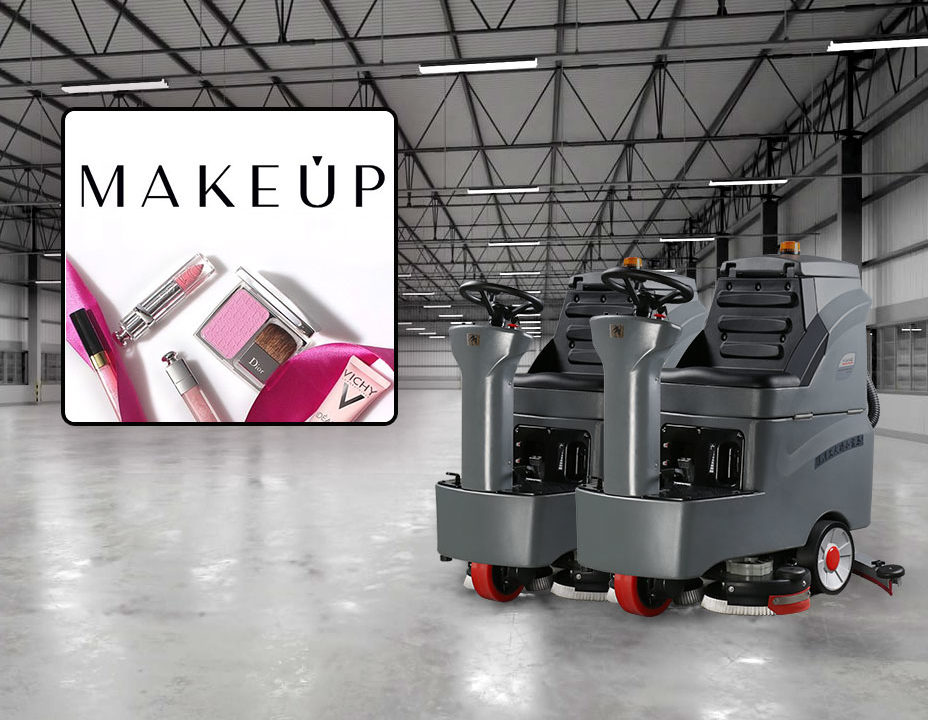 Поломоечные машины Gaomei убирают склады MAKEUP Украина